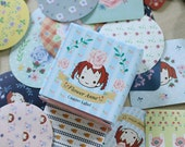 70 Coster Label Stickers - Flower Anne (1.8 x 1.8in)