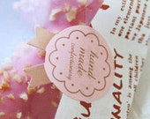 30 Cute Medal Handmade Stickers - Pink (1.1 x 1.4in)