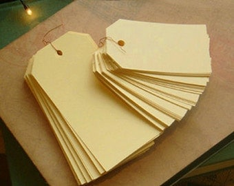 50 Standard Gift Tags / S - Pale Yellow (1.6 x 2.8in)