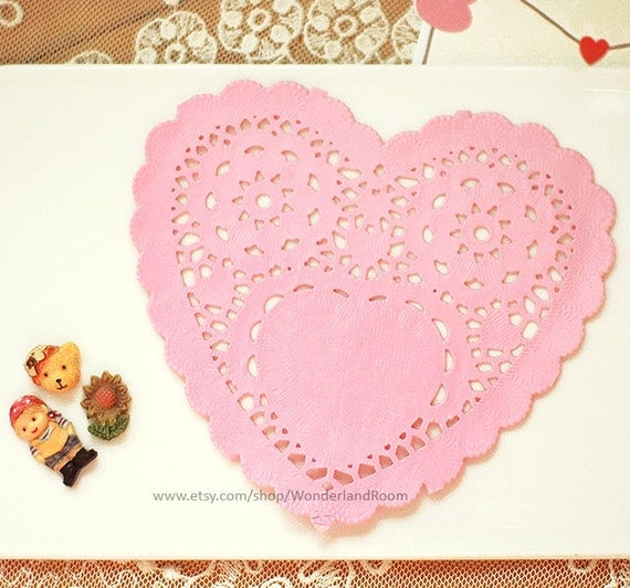 romantic heart paper