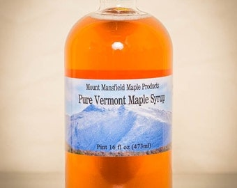 Pint (GLASS BOTTLE) - 100% Pure Vermont Maple Syrup (Any Grade)