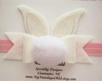 Bunny Ears Headband - Easter Baby Headband - Easter Headband - Bunny Headband - Newborn Headband, Baby Headband, Toddler Headband