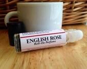 English Rose Perfume Oil, roll on perfume, vegan perfume, floral perfume, classic perfume, romantic perfume, feminine perfume,