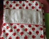 Vintage Full Flat Sheet Ladybug Print Ladybird