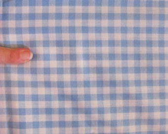 Light Blue, Gingham, Check, Cotton Fabric, Baby Boy, Picnic, Farmhouse, Quilting