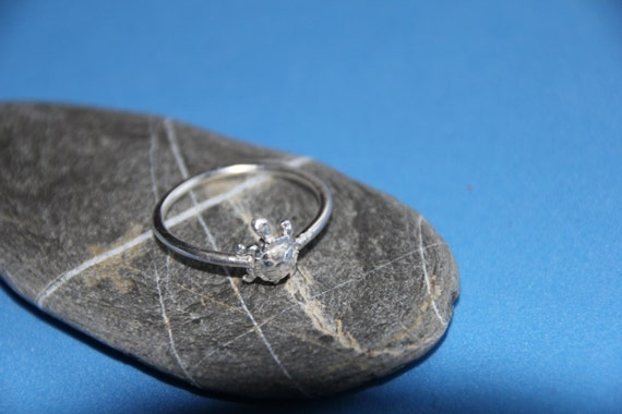 sterling silver turtle tortoise ring