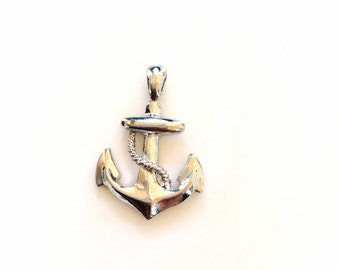 Anchor pendant silver tone classic jewelry small anchor charm or pendant