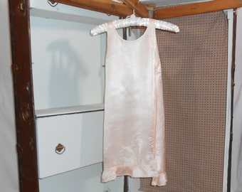 1920s Lingerie Girls Slip Vintage Slip Satin Slip Antique Clothing Victorian Clothing 1920s Clothing