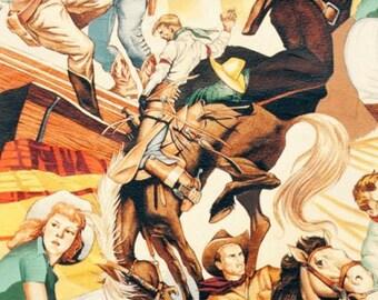 Western Cowboys - Alexander Henry 1 Yard Fabric