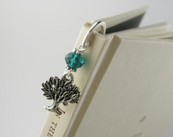 Tree Bookmark - Nature Jewelry - Tree of Life - Unique Bookmarks - Nature Beads - Tree of Life Charm - Boho Charm