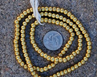 Indian  Metal Globes: Gold Finish  5x6mm