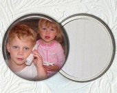 Personalized Pocket Mirror With Your Own Picture or Saying - Buy 3 Get 1 Free - 2.25 Inch    001 PPM