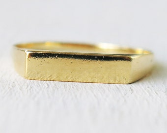 gold ring, band ring, bar ring, thin gold ring, geometric ring, stacking ring, simple ring, gold filled ring,minimalist ring,tiny ring,rings