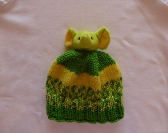 Baby, Toddler hand-knit hat, Elephant