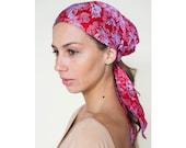 Headscarf / silk headscarf / women's turban headscarf / gift for her / red / headwrap /  head cover headscarf / headscarf