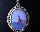 Lighthouse Necklace - Silver vintage pendant with sterling chain (different lighthouses available)