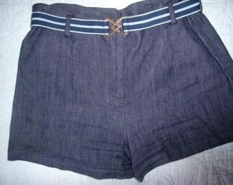 1970's denim shorts with belt