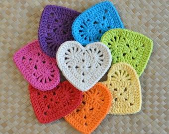 PDF Granny Heart Coaster N Motif Crochet Pattern