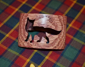 Boy Scout Wood Badge Fox Neckerchief Slide Also Called a Woggle