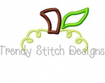 Pumpkin Top 1 Applique Design Machine Embroidery Design INSTANT DOWNLOAD