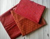 Red Patterned Fabric Bundle