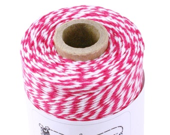 BOLD Dark Pink Bakers Twine - 240 yard spool of Pink Twine String for crafting, gift wrapping, packaging, wedding invitations