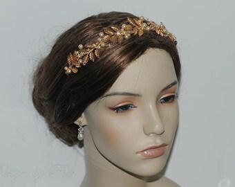 Bridal Hair Accessories Wedding Hair Gold Leaves Headband Bridal Accessories Wedding Hair Accessories