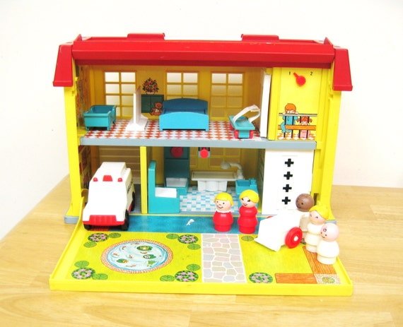 Vintage Fisher Price Play Family Hospital