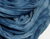 Hand Dyed Scarf in Midnight Blue, Extra Long Gauze Scarf, Chunky Scarf, Dreadlock Headwrap