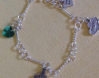 Ireland Irish Celtic Sterling Bracelet Custom