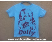 Dolly Parton toddler tshirt country music stencil and spray paint art by Rainbow Alternative on Etsy kids tee