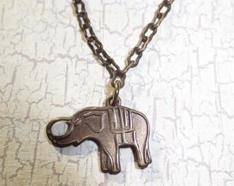 Brass Elephant Necklace
