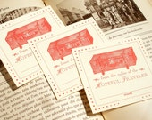 From the Valise of the HOPEFUL TRAVELER - Letterpress Bookplates - Set of 25