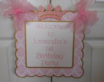 Pink and gold 1st Birthday Petite Party Package