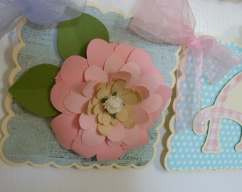 Shabby Chic floral Name banner