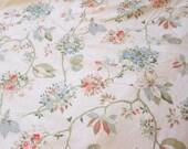 Floral Queen Flat Sheet, Blue, Coral, Green
