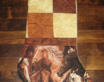 Herds of Horses Quilted Stocking