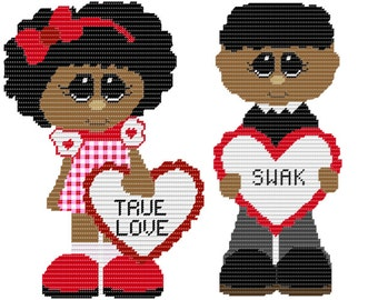 Plastic Canvas True Love SWAK Wall Hanging PDF FORMAT Instant Download