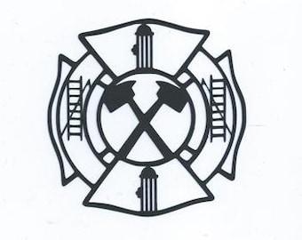 Fireman emblem silhouette