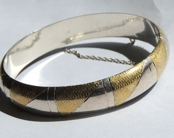 Sterling Silver Vintage Bracelet Hinged Bangle Vintage Jewelry