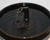 """Cat Fountain - Ceramic Pet Fountain -  Indoor Fountain - 10.5 Inch Diameter -  """"Ebony Zen"""""""
