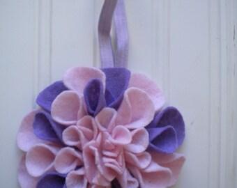 Felt Flower Headband in Spring