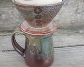 Pour Over Cone Coffee Filter, #2 size filter, Coffee Maker, Hand Thrown stoneware pottery by Jennie Blair