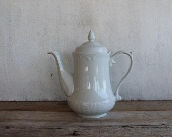Vintage B. I. A. China Teapot, Marked Cordon Bleu, Poland
