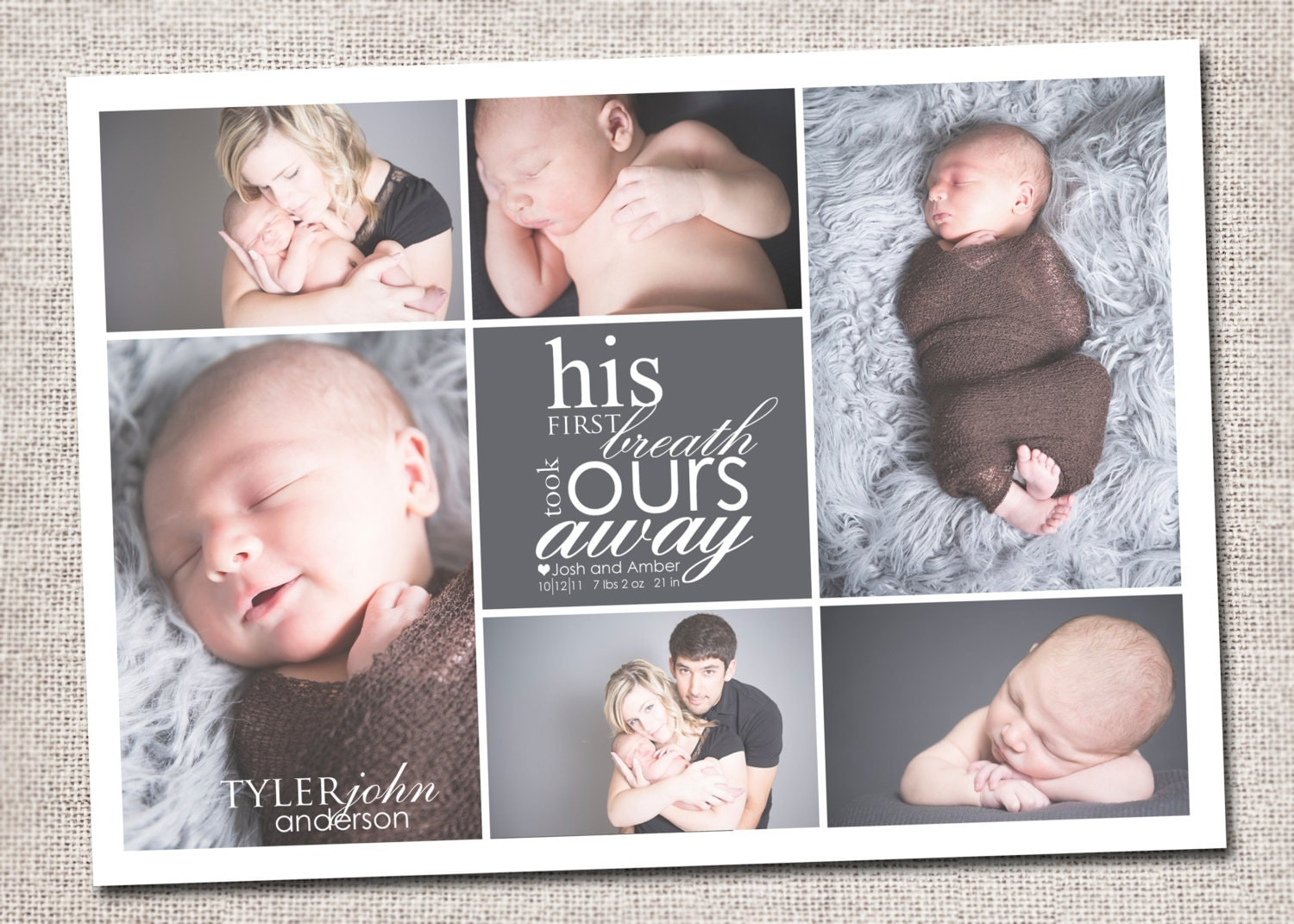 Birth announcement – Photo Birth Announcement