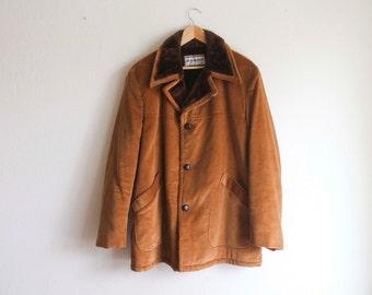 McGregor Jacket Corduroy with faux fur collar Brown
