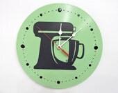 Mint Green Clock Kitchen Aid Olyteam