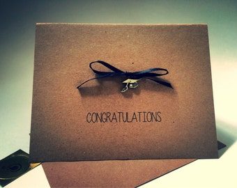 Graduation Card, Congratulations on graduating, youre like a total grown up now, inappropriate, recycled paper, comes with envelope an