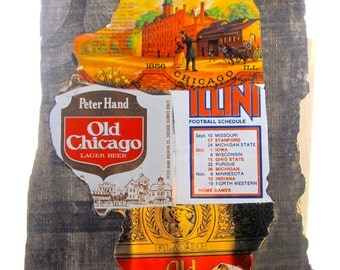 State of Illinois beer can collage