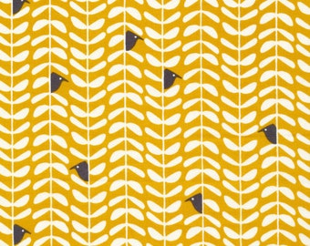 Organic Cotton Fabric - Cloud9 Fabrics Yoyogi Park - Peeking Gold
